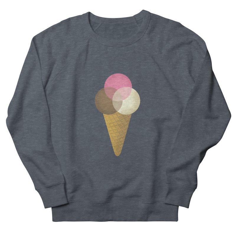 Ice Cream Venndor Men's French Terry Sweatshirt by Dianne Delahunty's Artist Shop