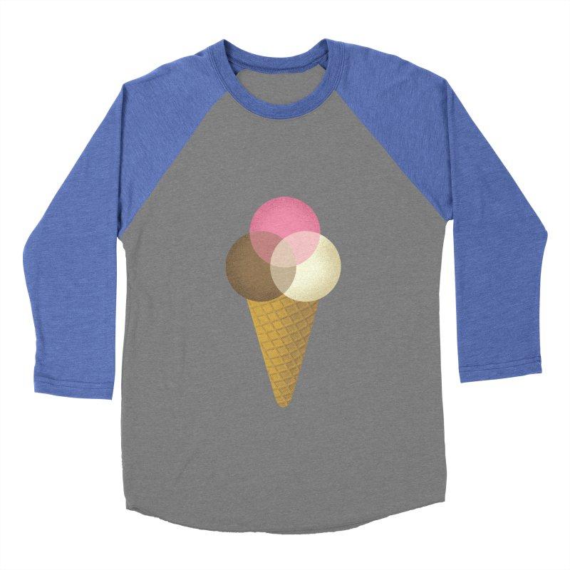 Ice Cream Venndor Women's Baseball Triblend T-Shirt by Dianne Delahunty's Artist Shop