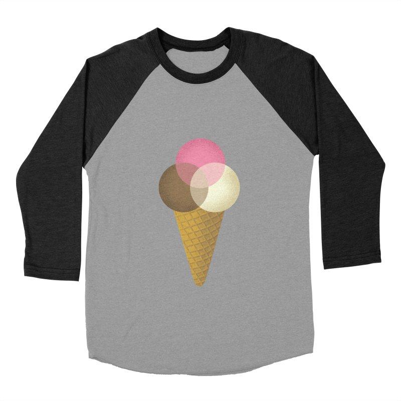Ice Cream Venndor Women's Baseball Triblend Longsleeve T-Shirt by Dianne Delahunty's Artist Shop