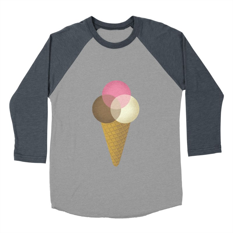 Ice Cream Venndor Women's Baseball Triblend Longsleeve T-Shirt by Dianne Delahunty's Artist Shop