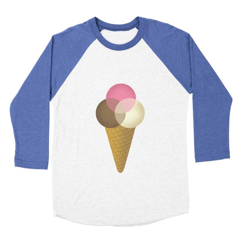 Ice Cream Venndor Men's Baseball Triblend Longsleeve T-Shirt by Dianne Delahunty's Artist Shop
