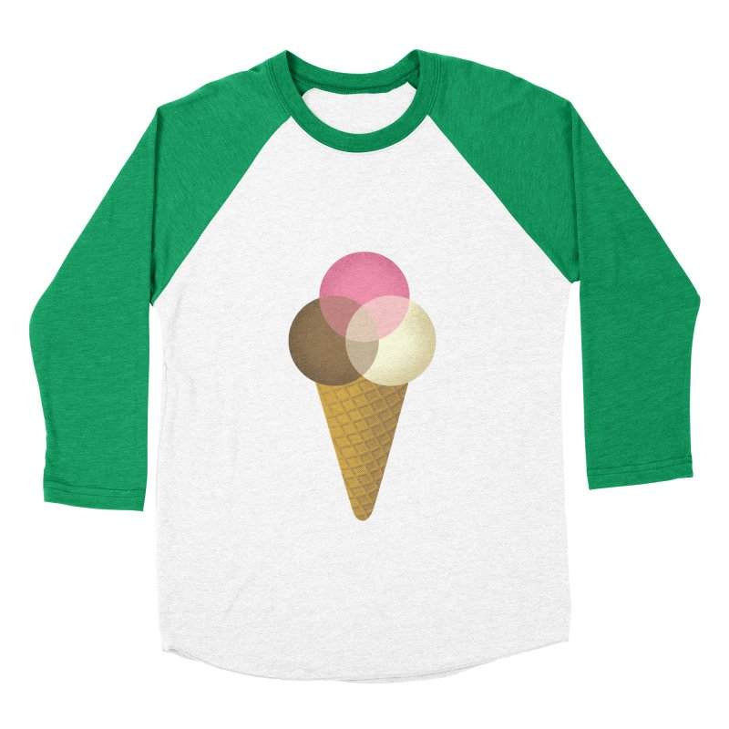 Ice Cream Venndor Men's Baseball Triblend T-Shirt by Dianne Delahunty's Artist Shop