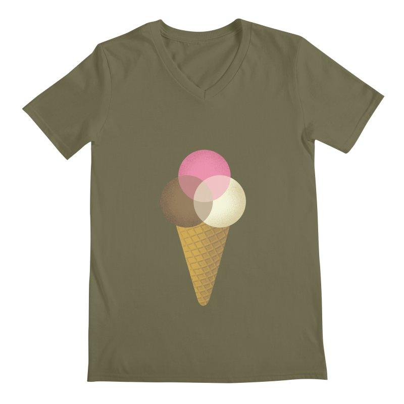 Ice Cream Venndor Men's Regular V-Neck by Dianne Delahunty's Artist Shop