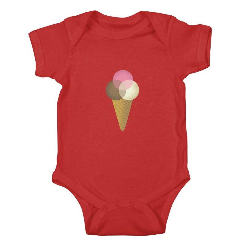 Ice Cream Venndor Kids Baby Bodysuit by Dianne Delahunty's Artist Shop
