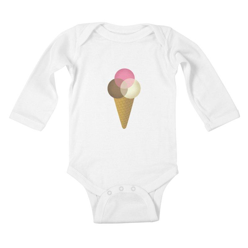 Ice Cream Venndor Kids Baby Longsleeve Bodysuit by Dianne Delahunty's Artist Shop