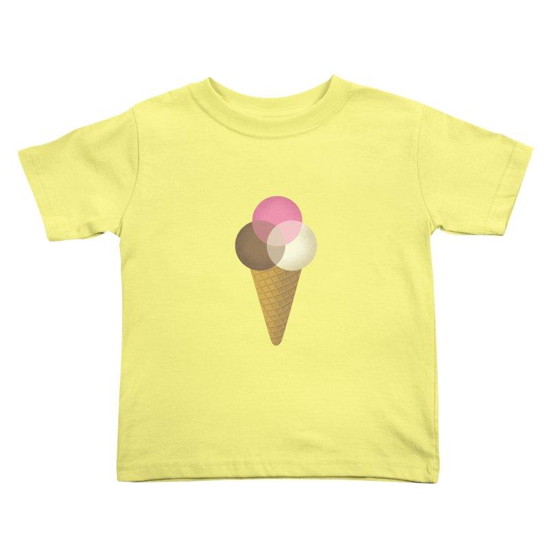 Ice Cream Venndor Kids Toddler T-Shirt by Dianne Delahunty's Artist Shop