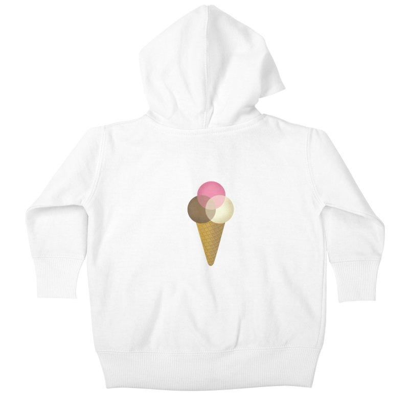 Ice Cream Venndor Kids Baby Zip-Up Hoody by Dianne Delahunty's Artist Shop
