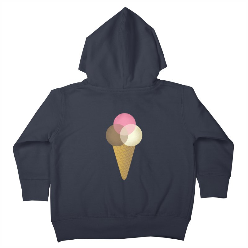 Ice Cream Venndor Kids Toddler Zip-Up Hoody by Dianne Delahunty's Artist Shop