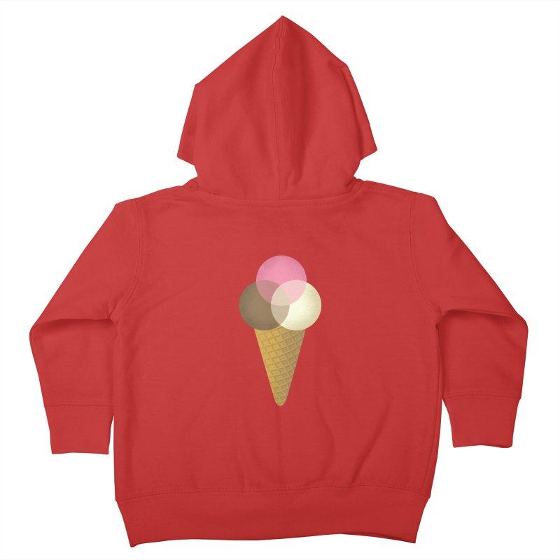 Ice Cream Venndor Kids Toddler Zip-Up Hoody by Dianne Delahunty's Artist Shop