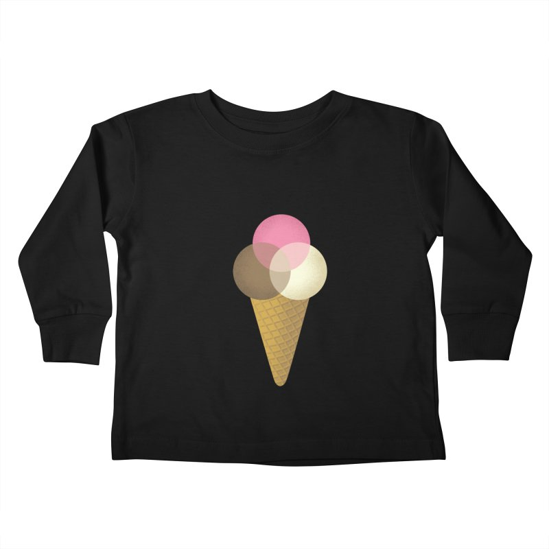 Ice Cream Venndor Kids Toddler Longsleeve T-Shirt by Dianne Delahunty's Artist Shop