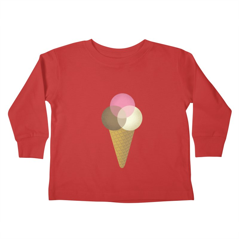 Ice Cream Venndor Kids Toddler Longsleeve T-Shirt by Dianne Delahunty's Artist Shop