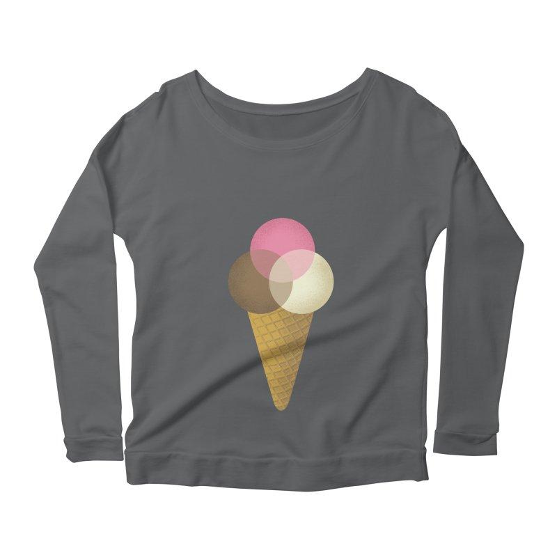 Ice Cream Venndor Women's Scoop Neck Longsleeve T-Shirt by Dianne Delahunty's Artist Shop