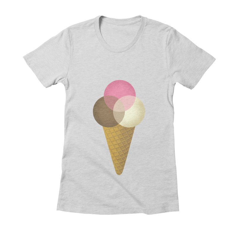 Ice Cream Venndor Women's Fitted T-Shirt by Dianne Delahunty's Artist Shop