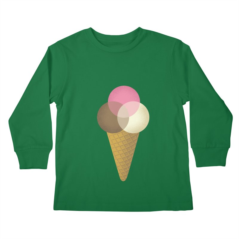 Ice Cream Venndor Kids Longsleeve T-Shirt by Dianne Delahunty's Artist Shop