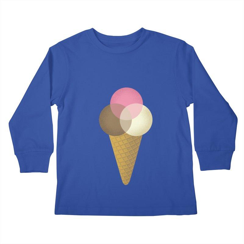 Ice Cream Venndor Kids Longsleeve T-Shirt by Dianne Delahunty's Artist Shop