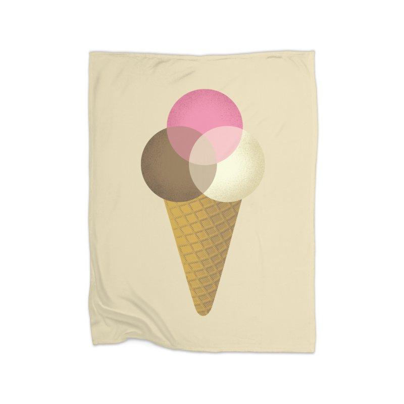 Ice Cream Venndor Home Blanket by Dianne Delahunty's Artist Shop