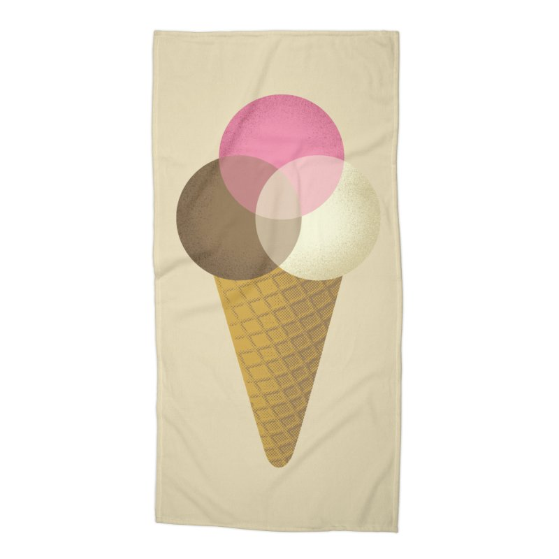 Ice Cream Venndor Accessories Beach Towel by Dianne Delahunty's Artist Shop