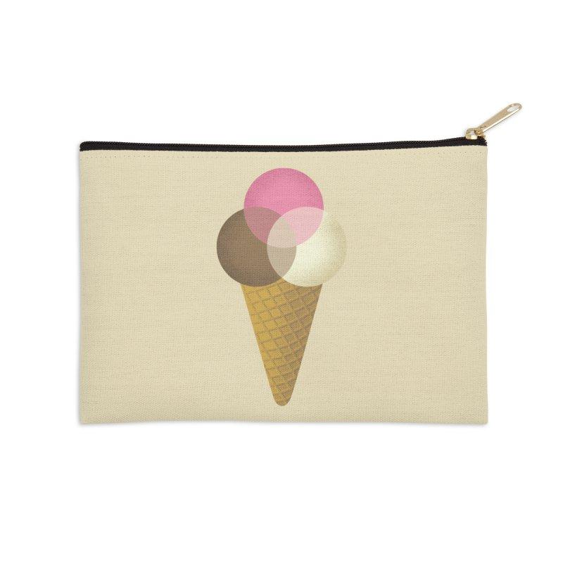 Ice Cream Venndor Accessories Zip Pouch by Dianne Delahunty's Artist Shop