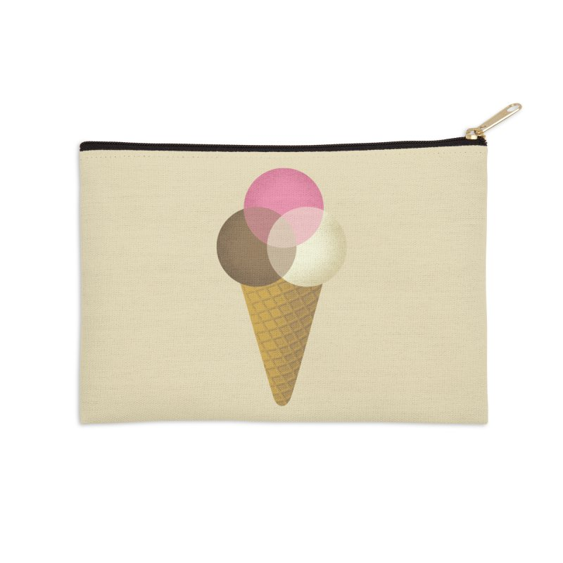 Ice Cream Venndor Accessories Zip Pouch by Dianne Delahunty's Artist Shop