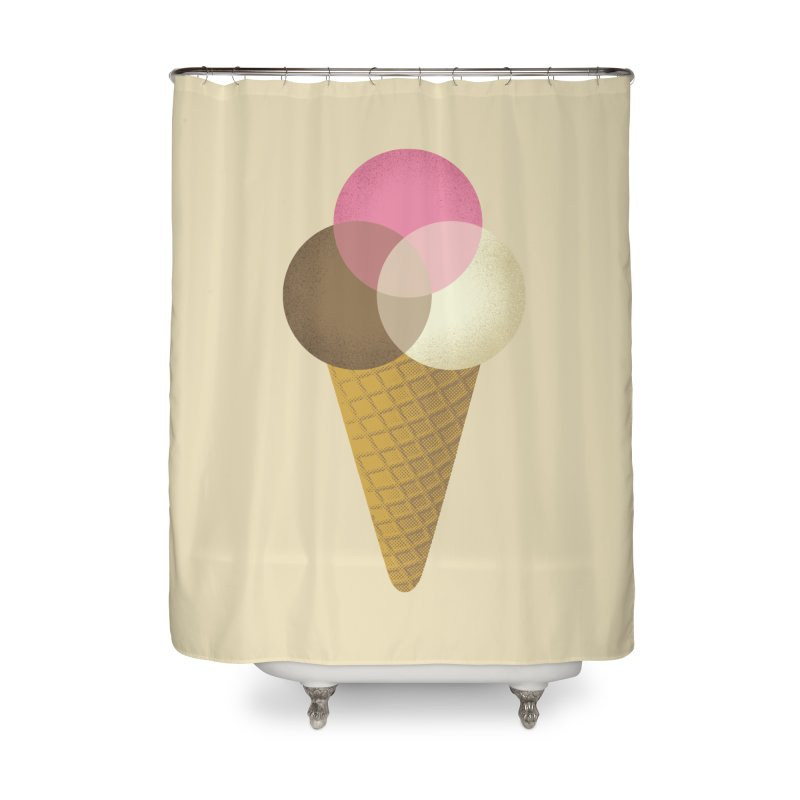 Ice Cream Venndor Home Shower Curtain by Dianne Delahunty's Artist Shop
