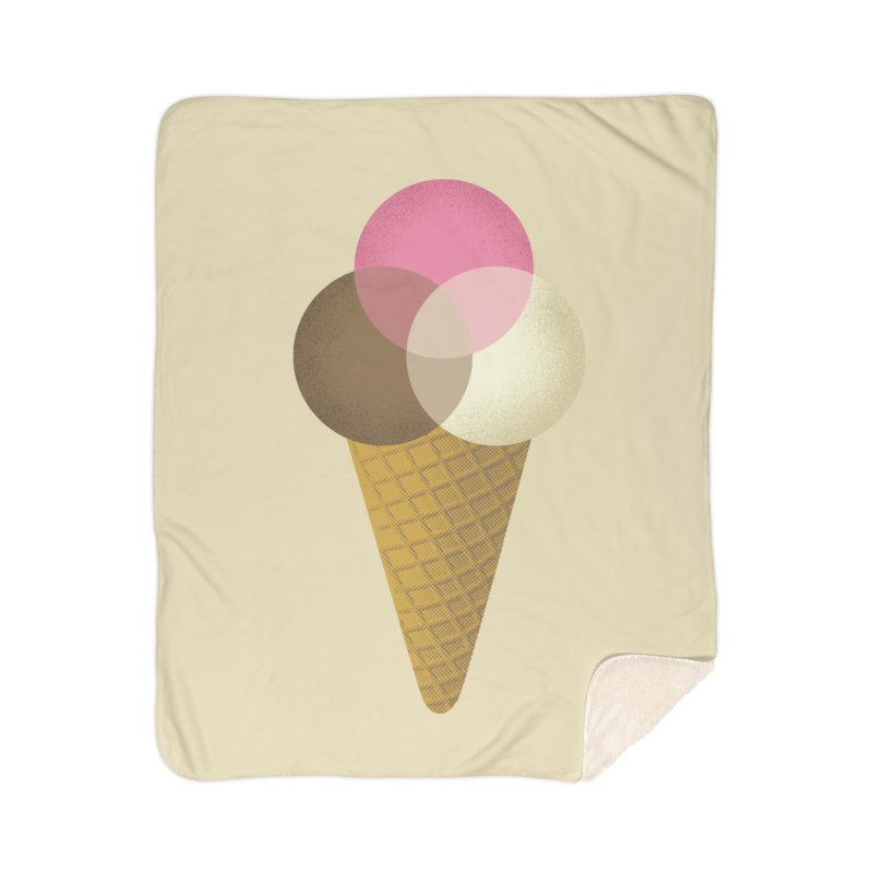 Ice Cream Venndor Home Sherpa Blanket Blanket by Dianne Delahunty's Artist Shop