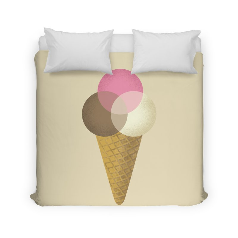Ice Cream Venndor Home Duvet by Dianne Delahunty's Artist Shop