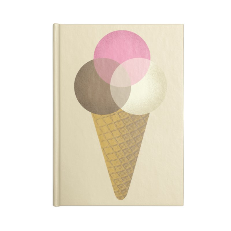 Ice Cream Venndor Accessories Lined Journal Notebook by Dianne Delahunty's Artist Shop