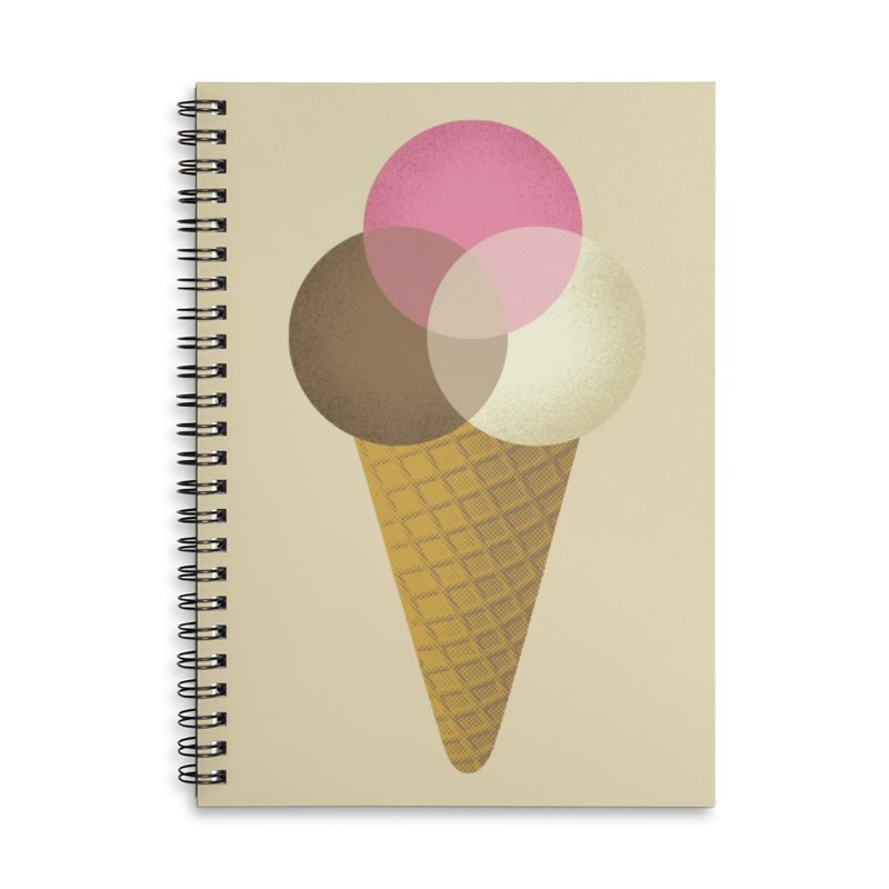 Ice Cream Venndor Accessories Lined Spiral Notebook by Dianne Delahunty's Artist Shop