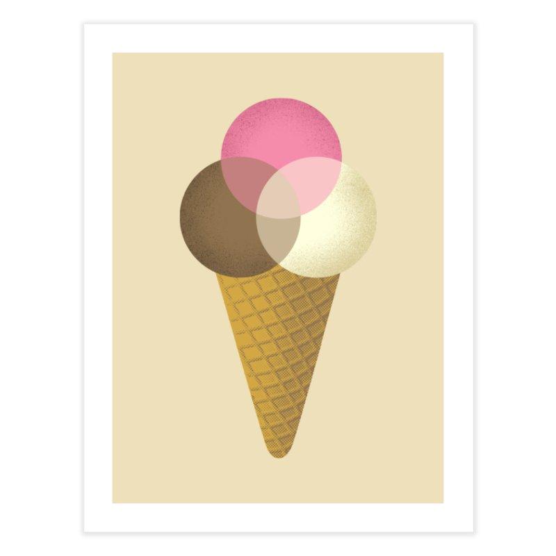 Ice Cream Venndor Home Fine Art Print by Dianne Delahunty's Artist Shop