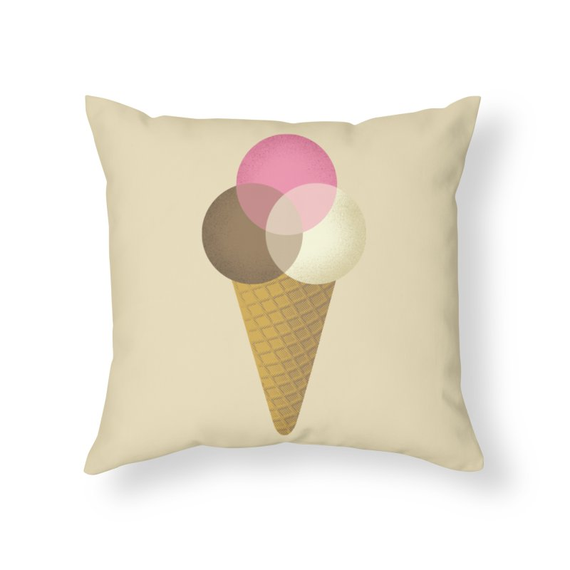 Ice Cream Venndor Home Throw Pillow by Dianne Delahunty's Artist Shop