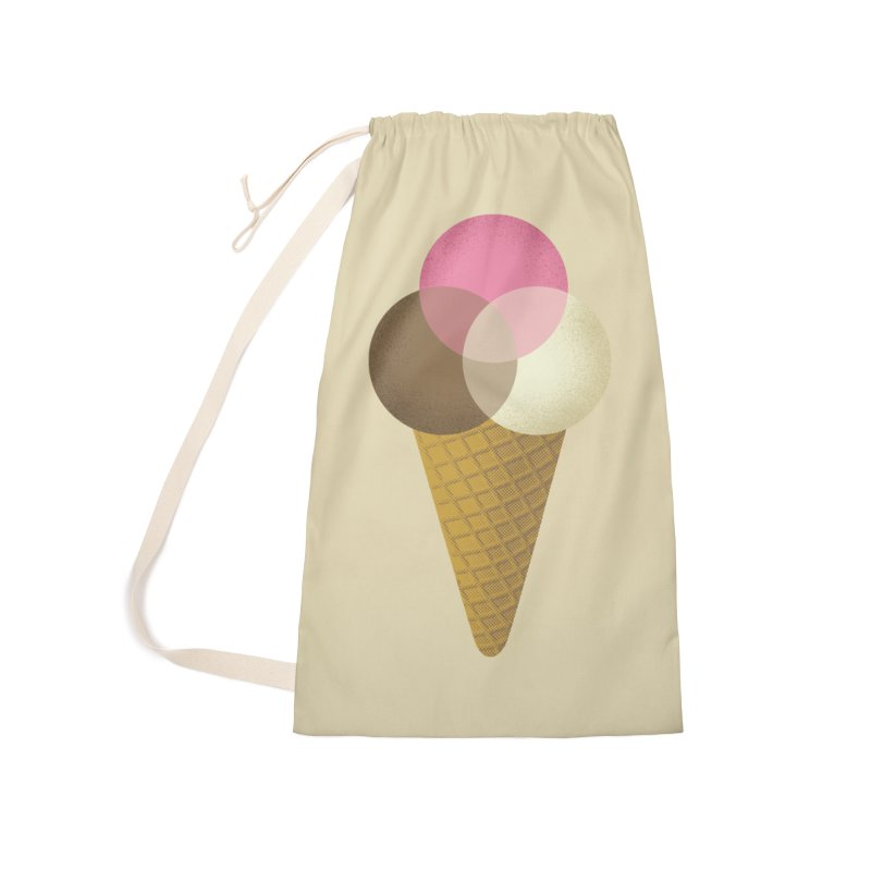 Ice Cream Venndor Accessories Laundry Bag Bag by Dianne Delahunty's Artist Shop