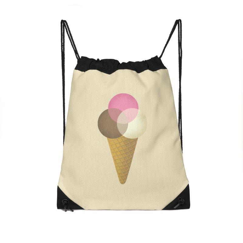 Ice Cream Venndor Accessories Drawstring Bag Bag by Dianne Delahunty's Artist Shop
