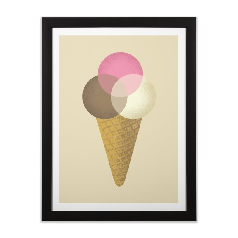 Ice Cream Venndor Home Framed Fine Art Print by Dianne Delahunty's Artist Shop