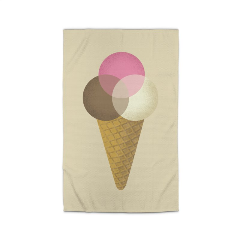 Ice Cream Venndor Home Rug by Dianne Delahunty's Artist Shop