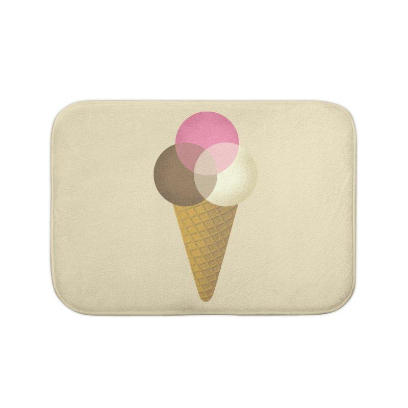 Ice Cream Venndor Home Bath Mat by Dianne Delahunty's Artist Shop