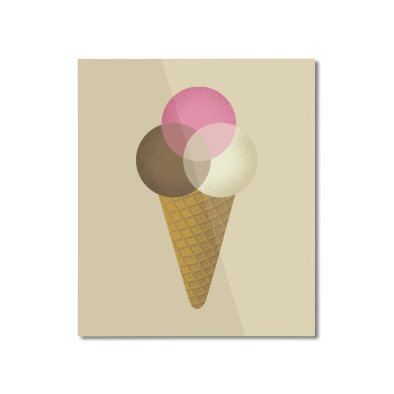 Ice Cream Venndor Home Mounted Aluminum Print by Dianne Delahunty's Artist Shop