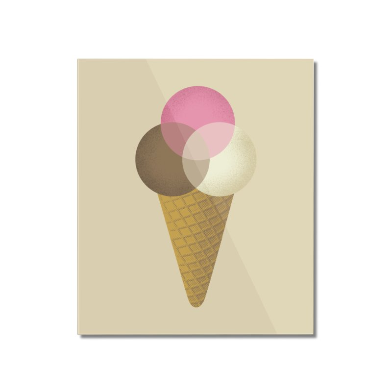 Ice Cream Venndor Home Mounted Acrylic Print by Dianne Delahunty's Artist Shop