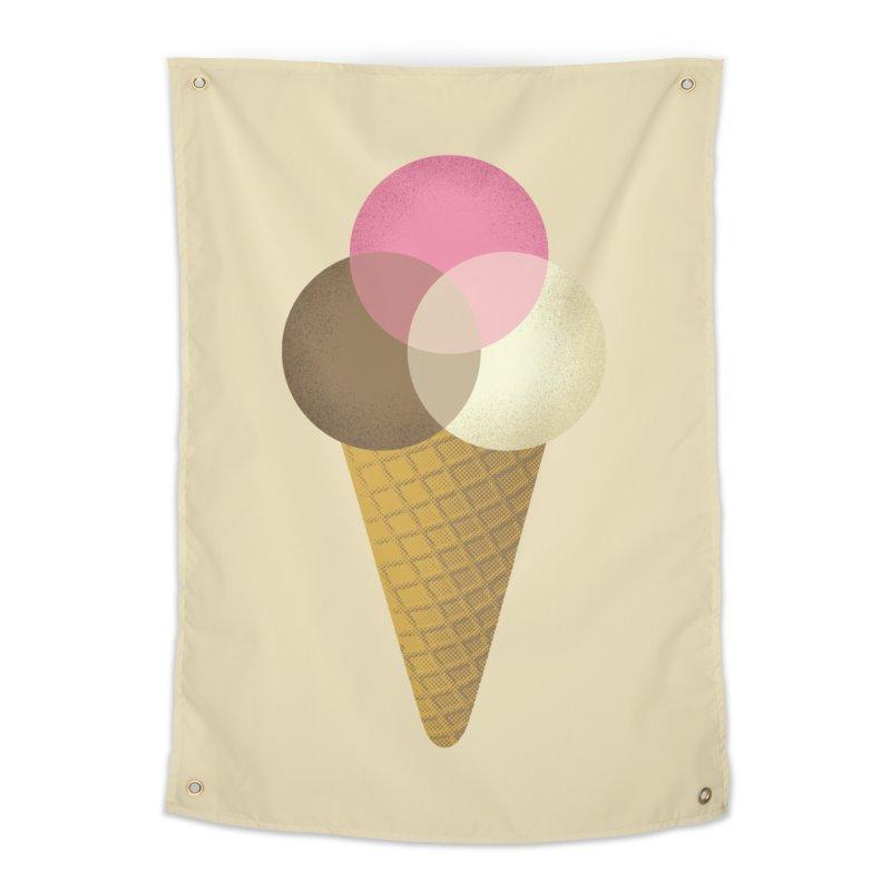 Ice Cream Venndor Home Tapestry by Dianne Delahunty's Artist Shop