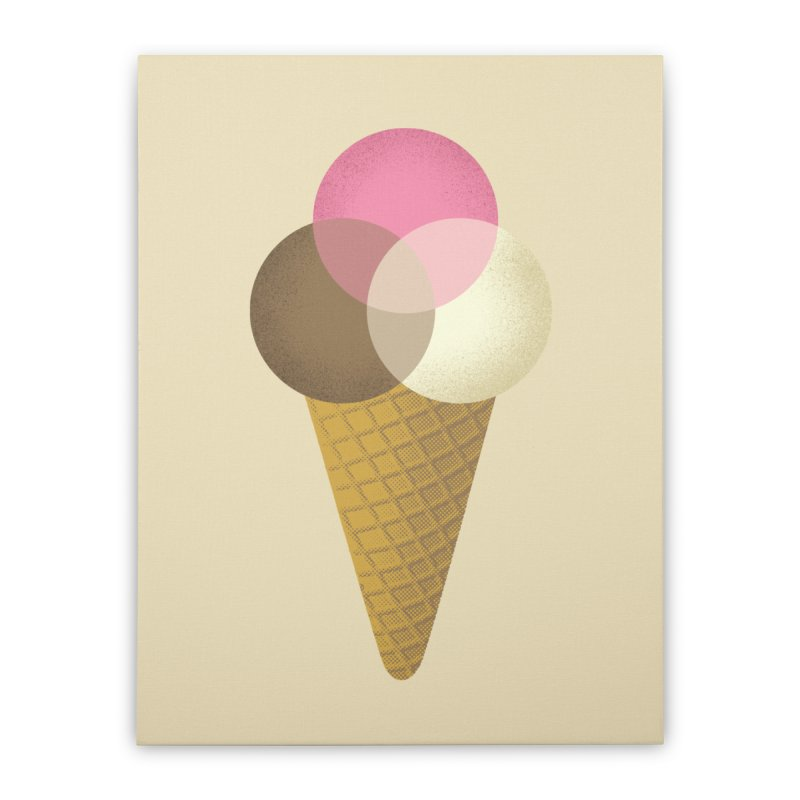Ice Cream Venndor Home Stretched Canvas by Dianne Delahunty's Artist Shop