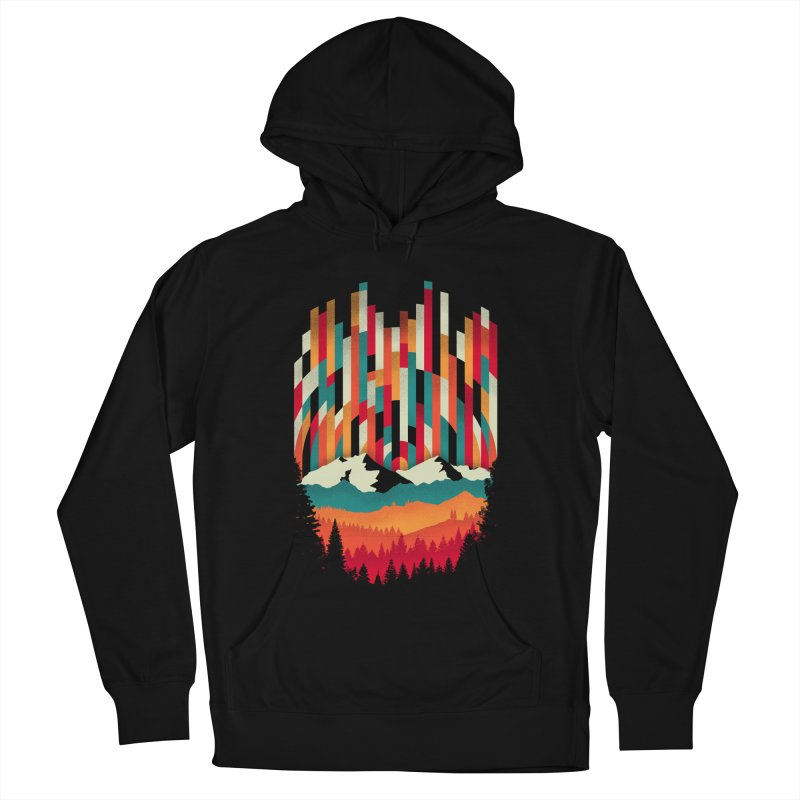 Sunset in Vertical - Multicolor Women's French Terry Pullover Hoody by Dianne Delahunty's Artist Shop