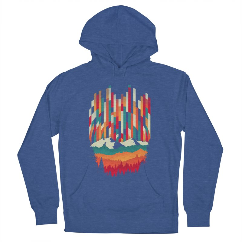 Sunset in Vertical - Multicolor Men's French Terry Pullover Hoody by Dianne Delahunty's Artist Shop