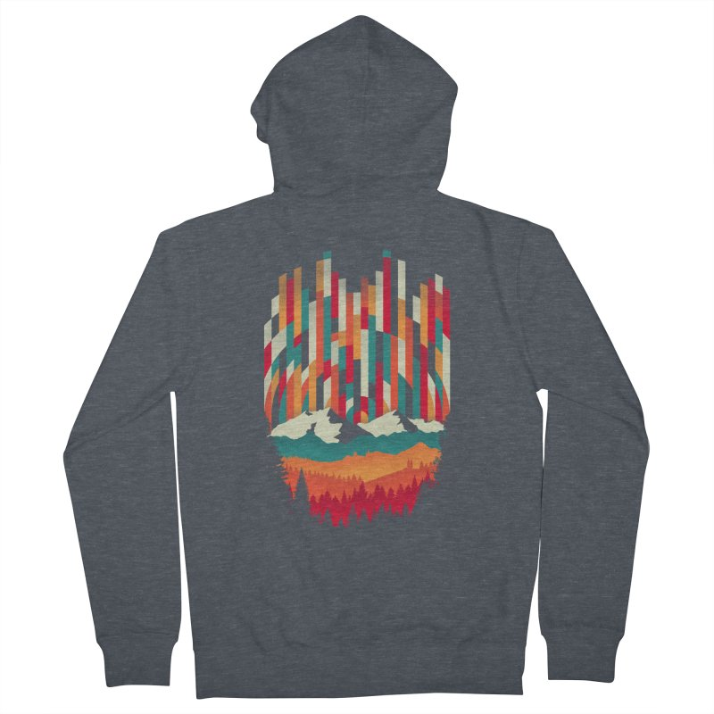 Sunset in Vertical - Multicolor Women's French Terry Zip-Up Hoody by Dianne Delahunty's Artist Shop