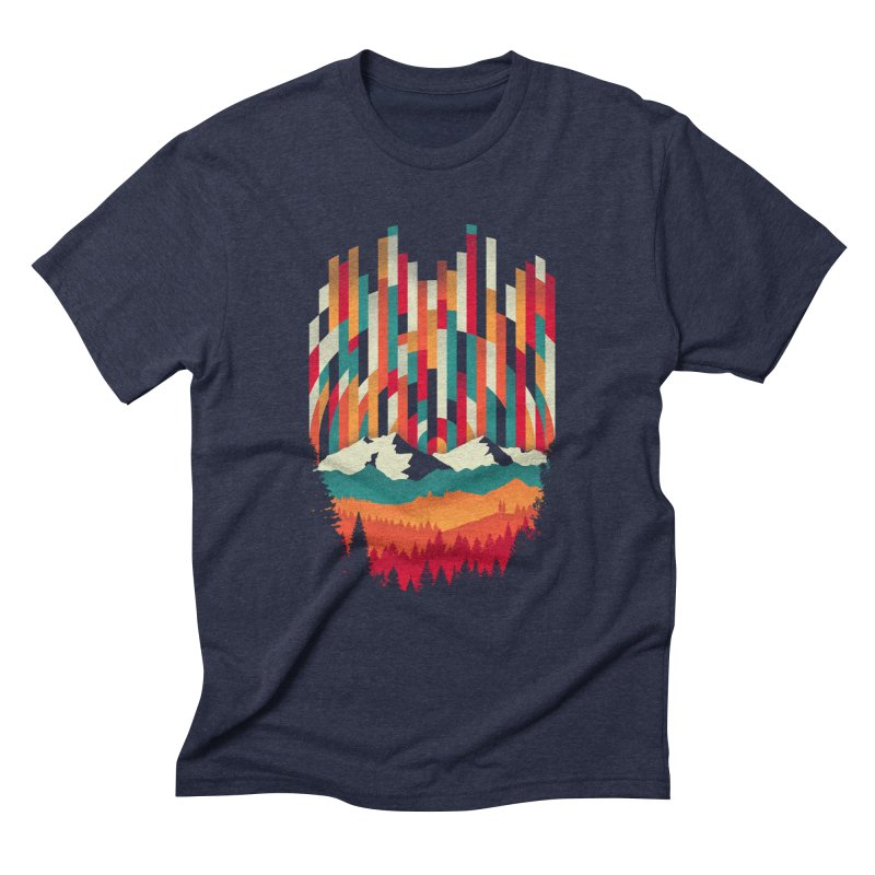 Sunset in Vertical - Multicolor Men's Triblend T-Shirt by Dianne Delahunty's Artist Shop