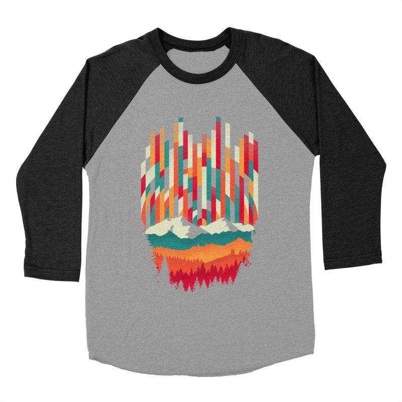 Sunset in Vertical - Multicolor Women's Baseball Triblend Longsleeve T-Shirt by Dianne Delahunty's Artist Shop