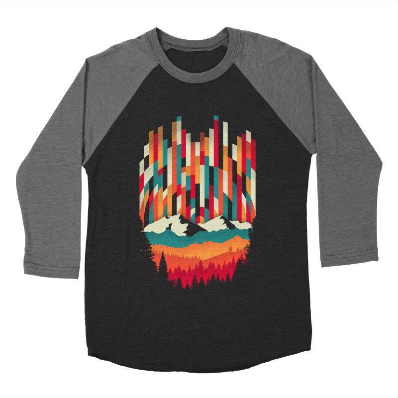 Sunset in Vertical - Multicolor Men's Baseball Triblend T-Shirt by Dianne Delahunty's Artist Shop