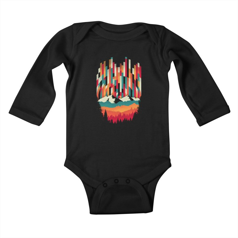Sunset in Vertical - Multicolor Kids Baby Longsleeve Bodysuit by Dianne Delahunty's Artist Shop
