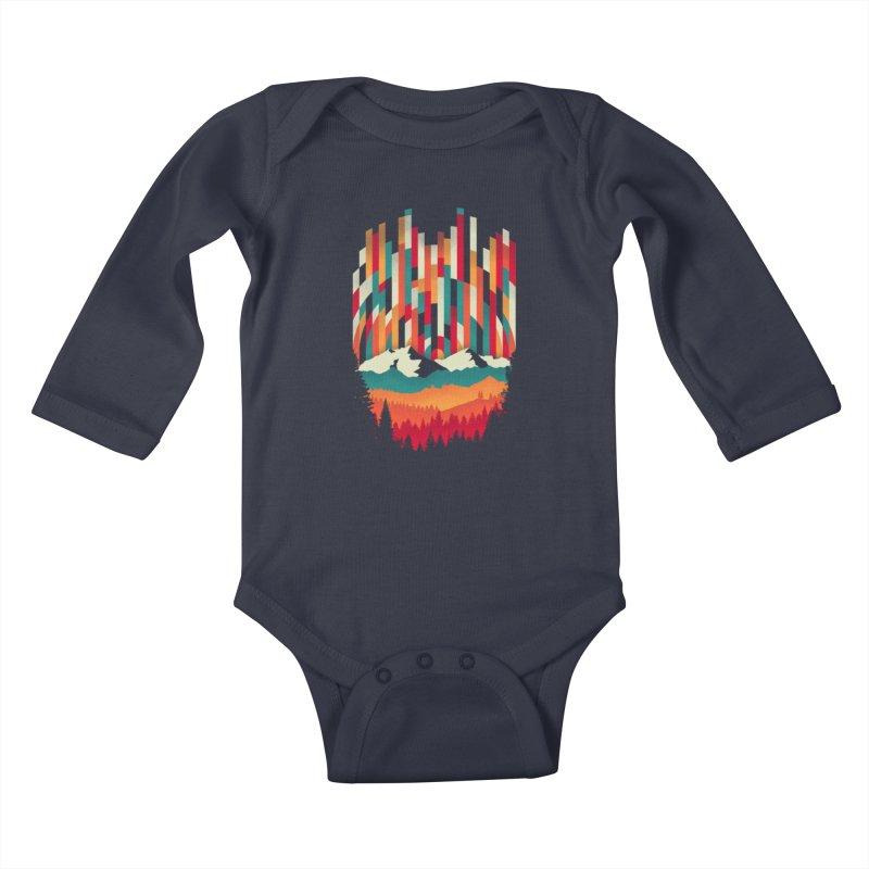 Sunset in Vertical - Multicolor Kids Baby Longsleeve Bodysuit by Dianne Delahunty's Artist Shop