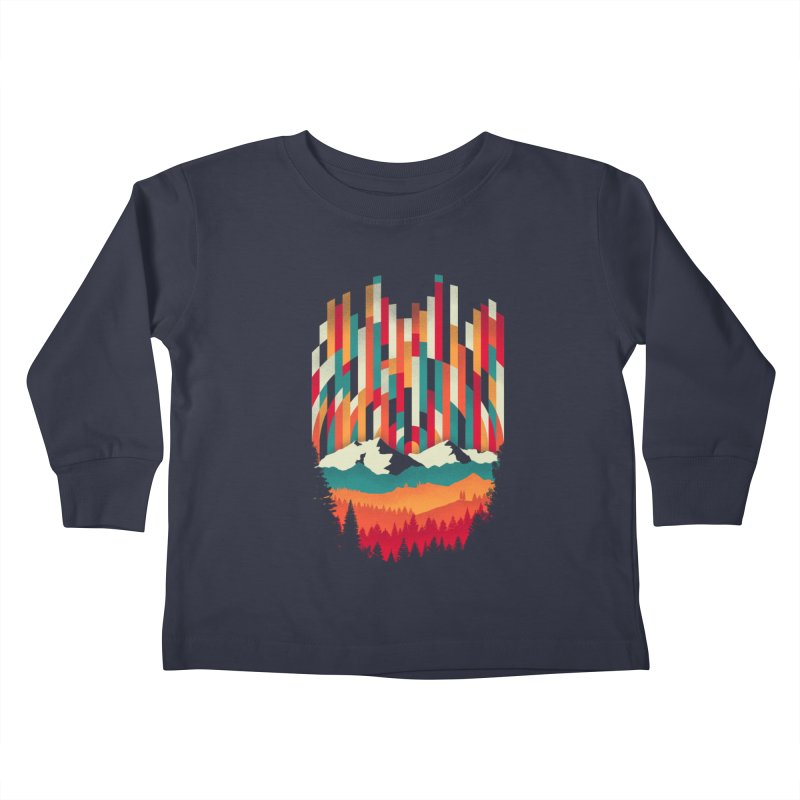 Sunset in Vertical - Multicolor Kids Toddler Longsleeve T-Shirt by Dianne Delahunty's Artist Shop