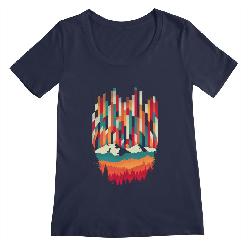 Sunset in Vertical - Multicolor Women's Scoop Neck by Dianne Delahunty's Artist Shop
