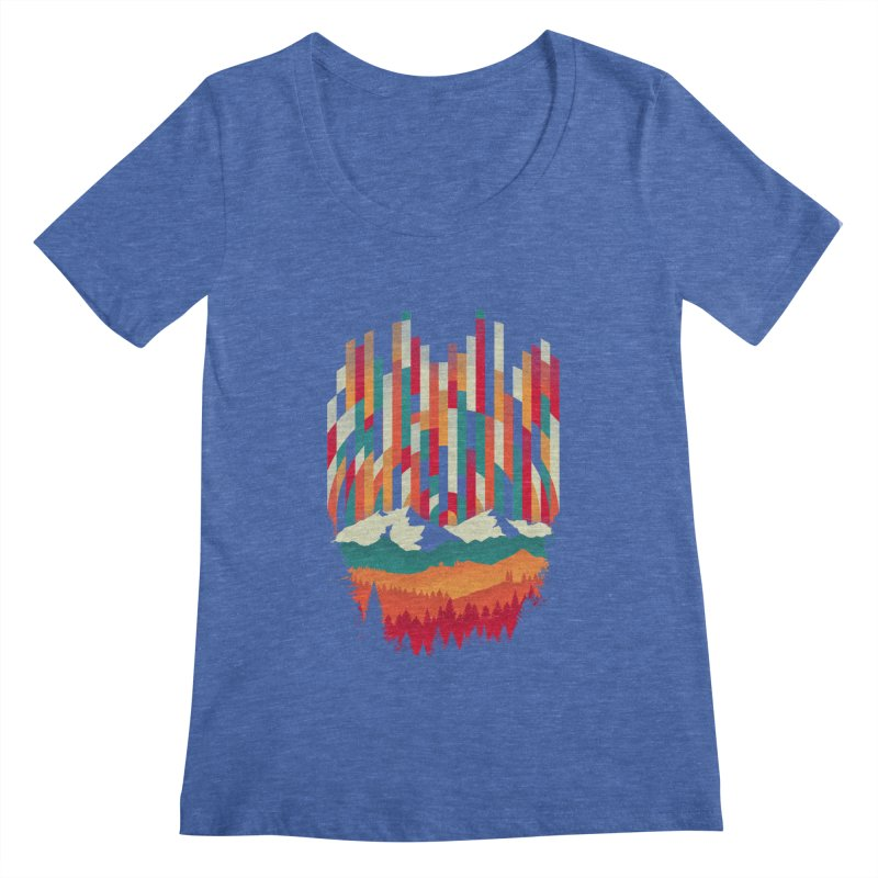Sunset in Vertical - Multicolor Women's Regular Scoop Neck by Dianne Delahunty's Artist Shop